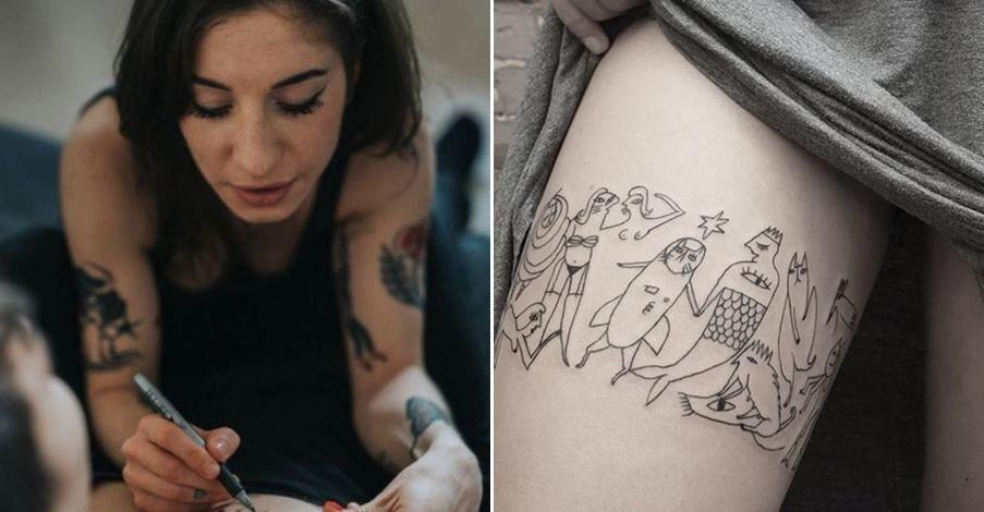 F5 Celowo Robi Niezgrabne Dziary Jej Tatuaże To Sztuka