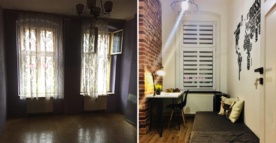 2 Pokojowe Mieszkanie W Katowicach Przerobione Na 4 Mikroapartamenty Dla Studentw
