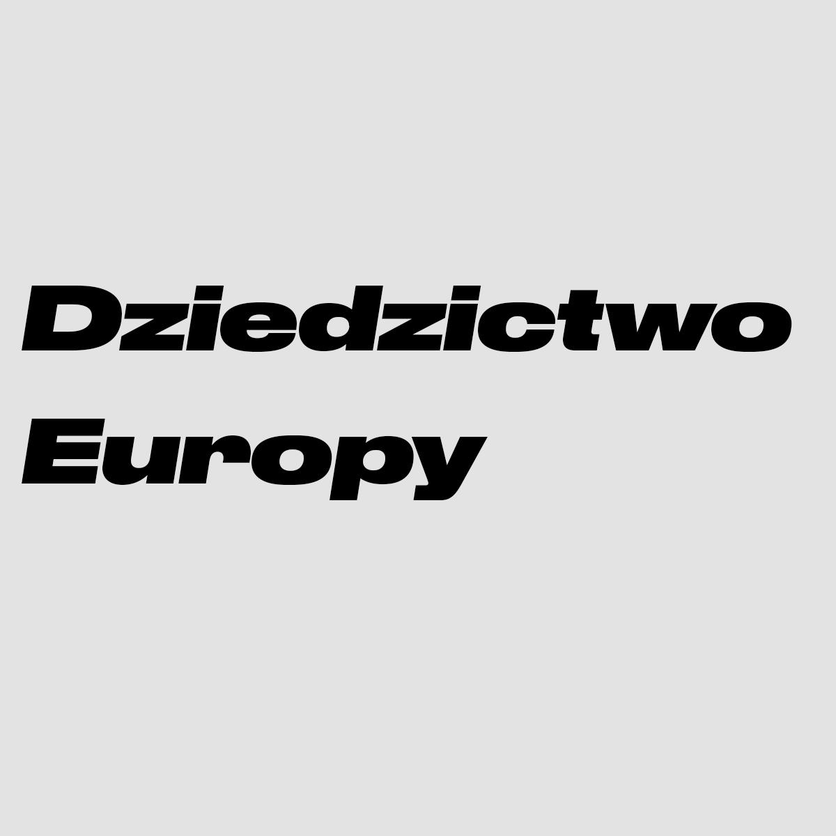 Logo of Dziedzictwo Europy