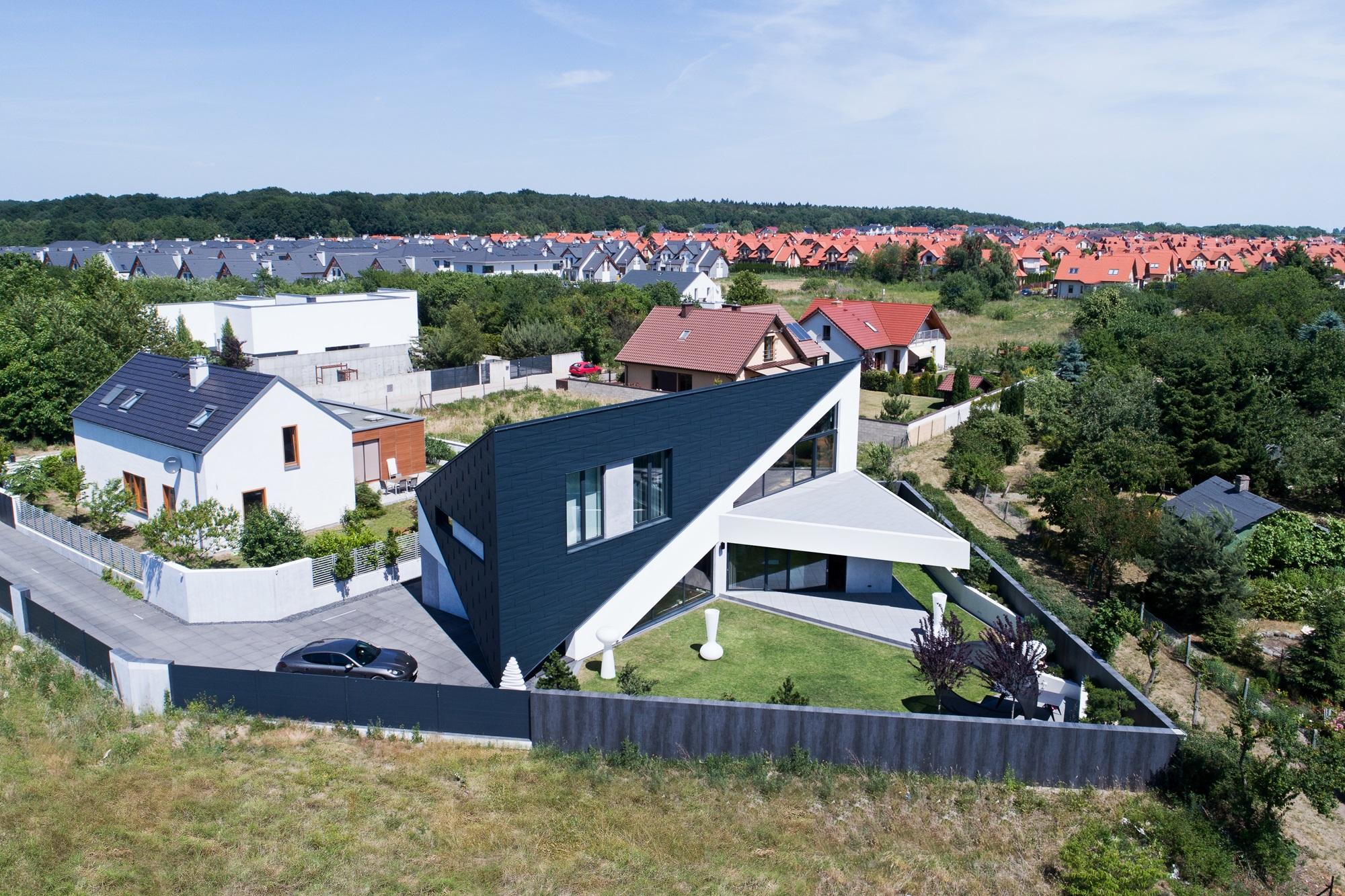 Najlepsze domy w Polsce Trojkatny Dom w Szczecinie