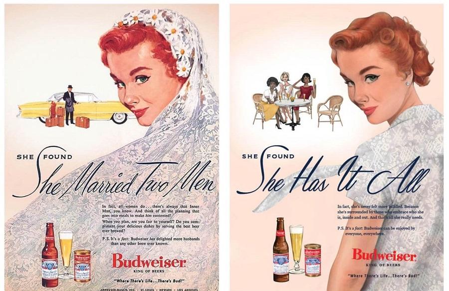F5 Budweiser Przerobił Swoje Seksistowskie Reklamy Z Lat 50