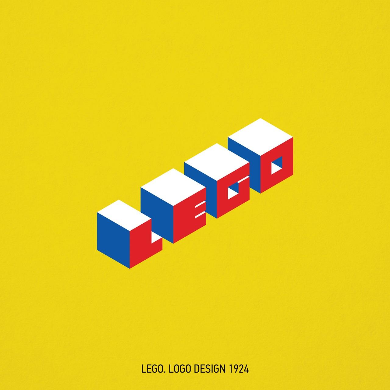 Loga znanych marek zaprojektowane w stylu Bauhausu