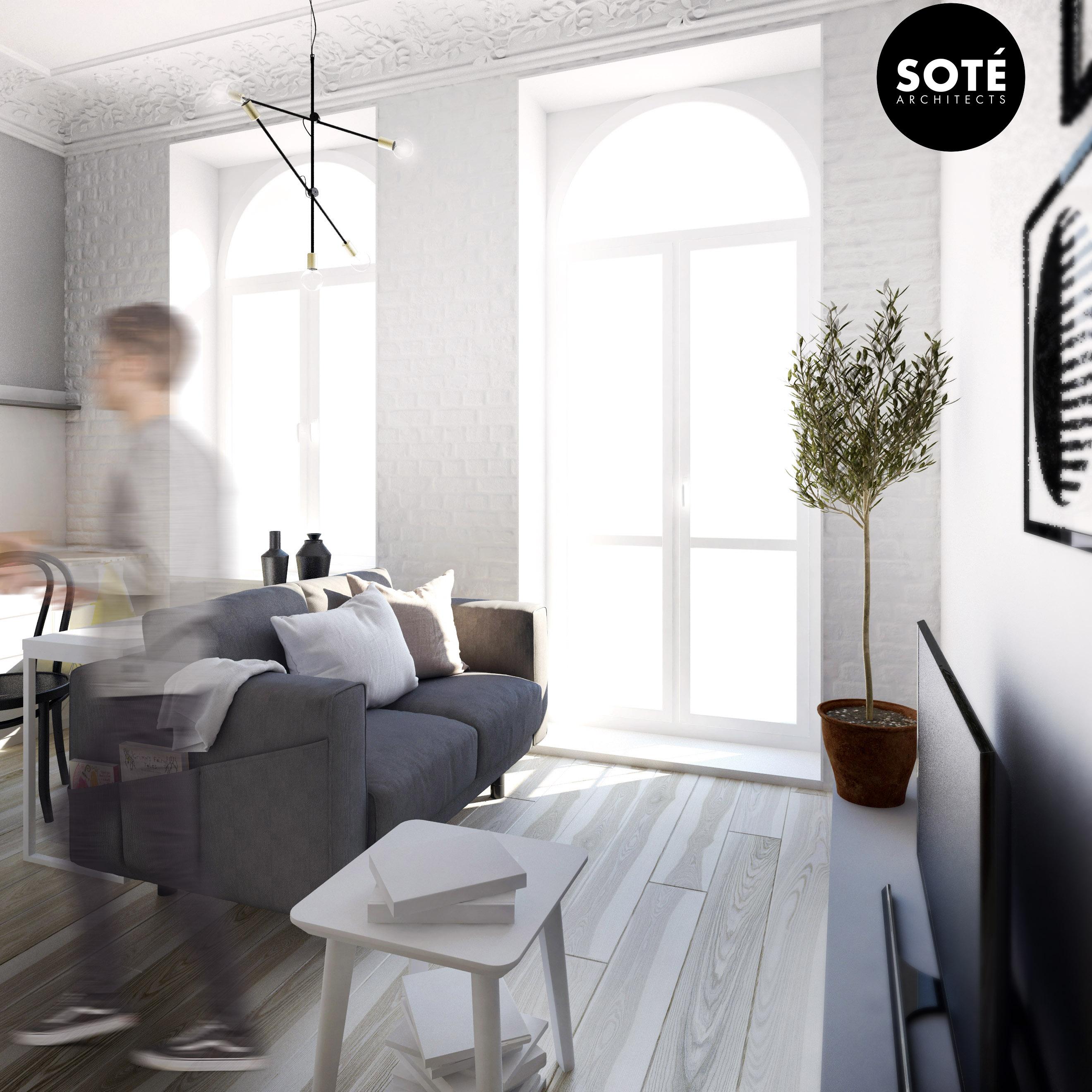 Małe przestrzenie: mikroapartament w Łodzi