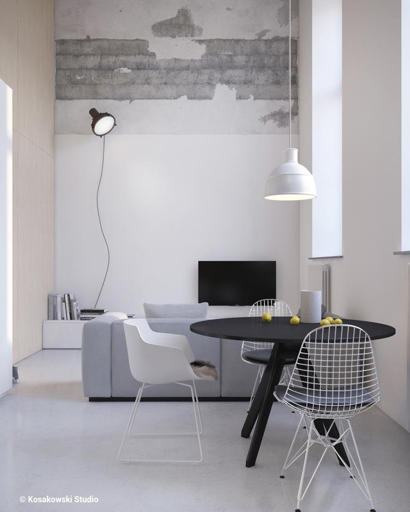 Małe przestrzenie: minimalizm i styl industrialny, czyli Soft Loft na warszawskiej Pradze