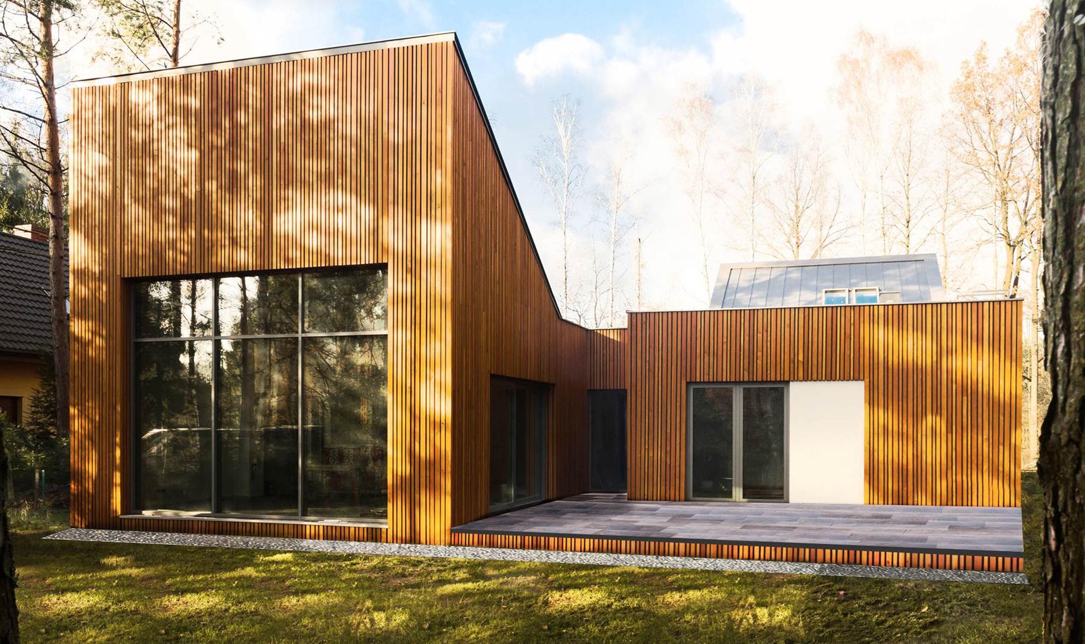 Najlepsze domy w Polsce: Leśny dom w Kuźnicy Kiedrzyńskiej