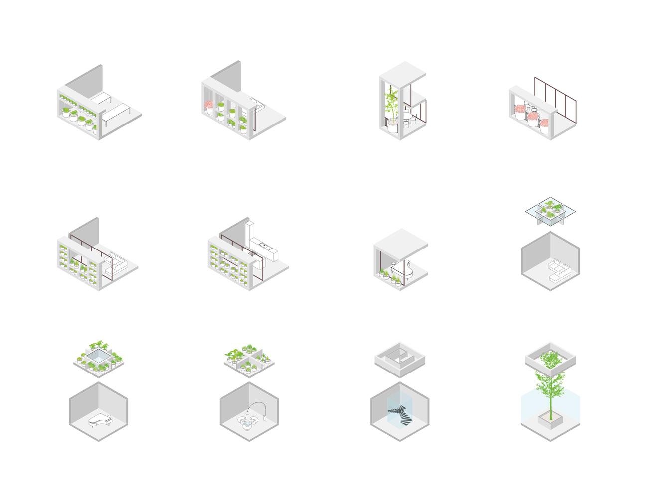 Na parterze czteropiętrowego budynku znajdą się biura dewelopera nieruchomości, na trzech piętrach wyżej będzie pięć mieszkań, a na dole parking podziemny.